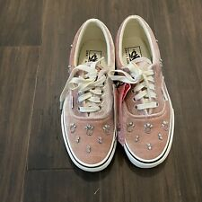 Vans Era Sandy Liang Orchard White Velvet Silver Jewel Shoes Women's Size 9