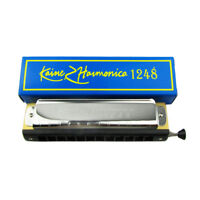 US Chromatic Harmonica 12 Hole 48 Tone Key of C for Melody Jazz Classic Music
