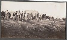 1925-30 ST PAUL'S COLLEGE CONCORDIA MISSOURI MAKING NEW ATHLETIC FIELD PHOTO