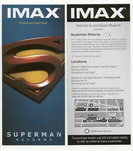 Superman Returns Smithsonian IMAX Theater Rack Card Advertising Flyer