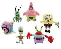 Spongebob Plush Toy Teddy Kids Cartoon Gift Soft Yellow Stuffed Doll Star Toys
