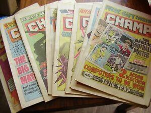 VINTAGE JOB LOT X 9 CHAMP FOOTBALL COMICS 1984 1985 LOT 2