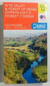 "2015 OS Ordnance Survey 1:25000 2.5"" Explorer Map OL14 Wye Valley Forest of Dean"