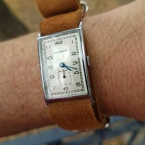 MOVADO RECTANGULAR,VINTAGE WATCH FROM THE 1930´S