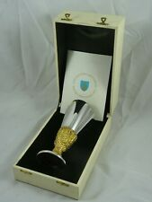 BOXED solid silver GOBLET, 1976, 323gm