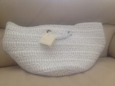 Pottery Barn Kids Round Woven Storage Small Blue Nwt new