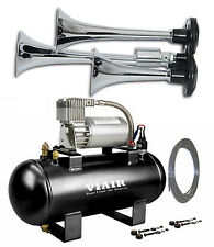TRIPLE TRUMPET TRAIN AIR HORN VIAIR 20003 120psi Kit 275c 1.5G On Board System