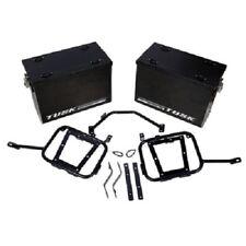Tusk Aluminum Panniers w/ Pannier Racks Medium Black KAWASAKI KLR650 2008-2017