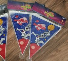 Vintage Space Jam Birthday Banner Bugs Bunny