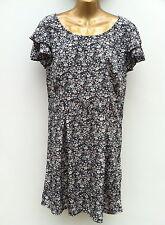 VERO MODA Floral Tea Dress Size UK 14 EU 42 Black Mix Spanish Designer WORN ONCE