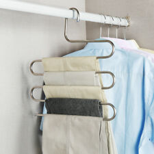 Multi-Use Pants Trousers Hanging Clothes Hanger 5 Layers Space Saver Neat Nice