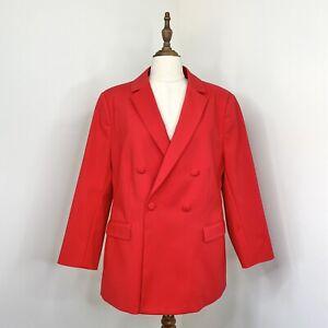 Witchery Womens Poppy Blazer Jacket Red Size 16 NWT RRP $279.95