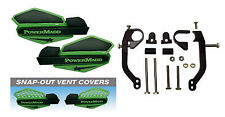 Powermadd Green / Black Star Handguards & Mount Kit Off-Road Motorcycles & ATV's