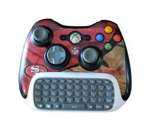Microsoft Xbox 360 Wireless Controller San Francisco 49ers OEM Chat Pad TESTED