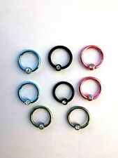 Ball Closure Ring Captive Bead ring BCR Lip Nose Ear Septum Tragus Piercing CBR