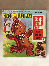 GINGERBREAD MAN BOOK AND RECORD 45 RPM 1940