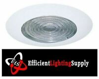 """6"""" INCH RECESSED CAN LIGHT SHOWER TRIM CLEAR GLASS FRESNEL LENS 09-6TFRES"""