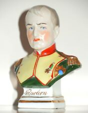19th C. Fine European Porcelain Napoleon Bust CHELSEA GOLD ANCHOR GERMANY ~ RARE