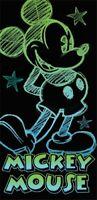 Disney Mickey Mouse Glow Sketch Beach Towel 28x58