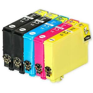 5 Ink Cartridges XL for Epson Expression Home XP-247, XP-335, XP-355, XP-445