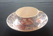 Rare Dinette Tasse à Chocolat en Porcelaine de Sarreguemines Décor Bicolore