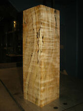 QUILTED SPALTED FIGURED BIG LEAF MAPLE WOOD TURNING LUMBER 4 x 4 x 14 VASE BLANK