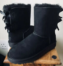 Ladies UGG Australia Bailey Bow Boots - Size 5.5 (38) NEW