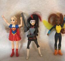 McDonald's Happy Meal Super girl Katana Bumblebee Barbie Mini Doll Lot