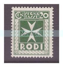 EGEO RODI  1934  -  SEGNATASSE   CENTESIMI 20   NUOVO **