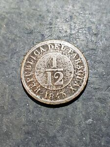 1845 PARAGUAY  1/12 REAL Coin Alignment ***has issues***