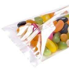 "Back Seal Bags - (4 X 7.75"") 100mm x 200mm x100 pcs Clear Plastic Cello"
