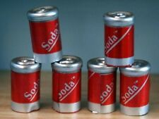 Six Cans Of Cola Pop, Dolls House Miniatures, Food & Drink Dining