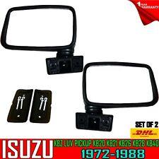 FOR ISUZU KB20 KB25 1972–1980 Pickup Chevy LUV BLACK DOOR MIRRORS SET PAIR Retro