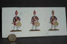 Scholtz Zinnfiguren Flachfiguren 3 x Riesengarde Trommler 54mm beids. bemalt