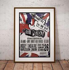 More details for sex pistols 1976 first uk tour concert poster 2 framed 3 print options exclusive