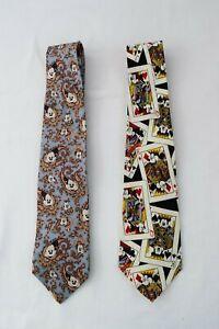 Walt Disney World Neckties Ties Mickey Mouse Character Balancine Lot of 2