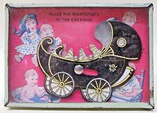1930's DIONNE QUINTUPLETS BABY CARRIAGE Dexterity Puzzle *