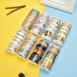6pcs Crane Washi Tape Set Stickers Masking Tape School DIY Stationery Supplies
