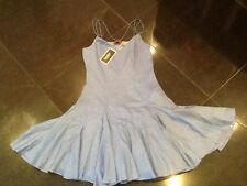 NWT Juicy Couture New Ladies Small Blue Sleeveless Cotton Summer Dress UK 8/10
