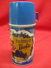 VINTAGE 1971 MATTEL THE WORLD OF BARBIE LUNCH BOX THERMOS