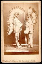 Rare c.1890 Apache Indian Warriors with Eagle Feather Headdress