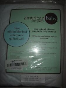 """American Baby Company Waterproof Crib  Fitted Quilted Mattress Pad  28"""" x 52"""""""