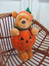 ☺ Peluche Disney Winnie L'ourson Déguisé En Citrouille Orange 34 Cm Halloween