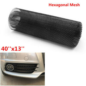 40''x13'' Hexagonal Aluminum Grille Net Mesh Grill Section for Car Bumper Fender