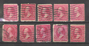 Lot of 10  2c Washington...w/ triangles......1894 Unchecked