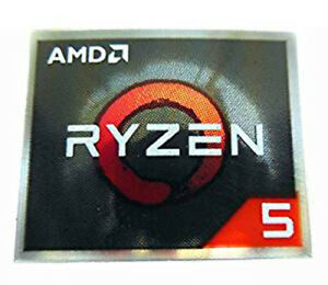 AMD Ryzen 5 CPU Sticker 16.5 x 19.5mm Case Badge Logo NEW VERSION