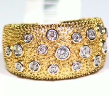 Design 14k oro diamante naturale .33ct ANNIVERSARIO ANELLO FIDANZAMENTO VINTAGE