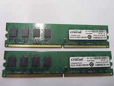 4GB(2x2GB) MAJOR BRAND PC2-5300 DDR2-667 CL5 240-pin Non-ECC Desktop Memory/RAM