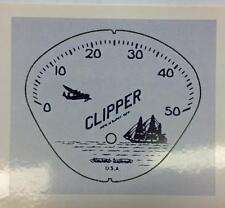 Stewart Warner BLUE CLIPPER bicycle SPEEDOMETER FACE decal