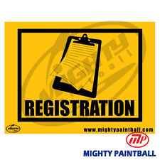Paintball Safety Sign - Registration (Mp-Fe-S007)